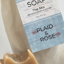 The Mix Plaid & Rose Beer Soap