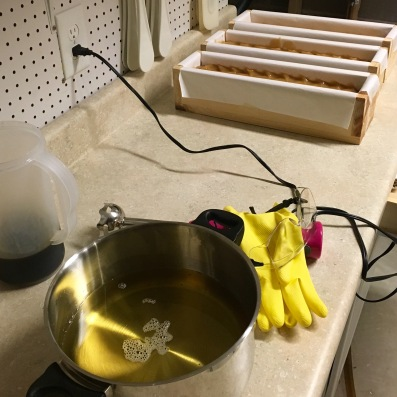 Getting ready for soapmaking